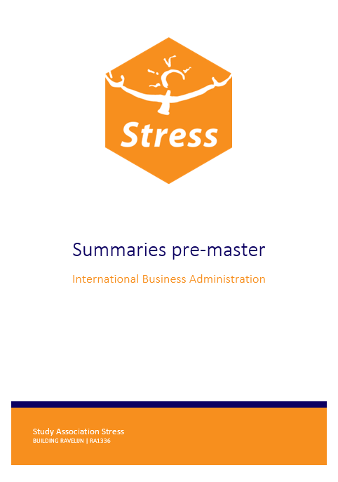 IBA Pre-master summary bundle