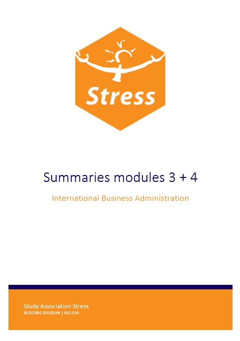 IBA summary bundle module 3 + 4