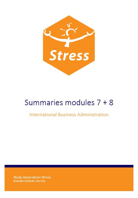 IBA summary bundle module 7 + 8